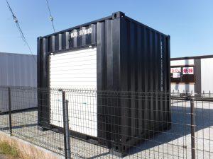 コンテナ10フィート 2.2坪倉庫ブラック 桁側シャッター【展示品】