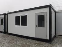ユニットハウス 4坪 ホワイト&ブラック 展示品